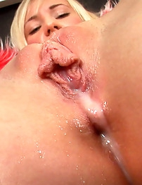 Julia's Dripping Orgasmic Juices Out!